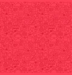 Fast food menu line seamless pattern vector