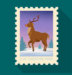 festive christmas flat mark vector image