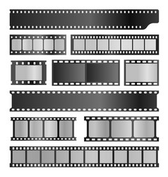 filmstrips realistic set film or photograph vector image