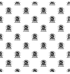 firefighter mask pattern seamless vector image