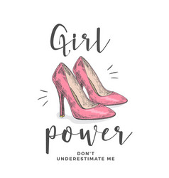girl power do not underestimate me abstract vector image