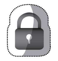 Grayscale lock close icon vector