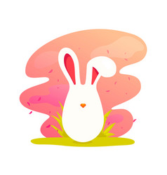 happy easter cute cartoon easter bunny vector image