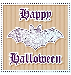 Happy halloween on cardboard background vector image