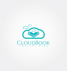 Islamic logo templatecloud and quran icon vector