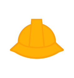 isolated engineer hat icon vector image