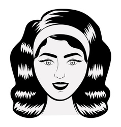 Isolated retro woman design vector