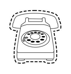Landline telephone icon image vector