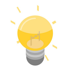 light bulb idea icon isometric style vector image