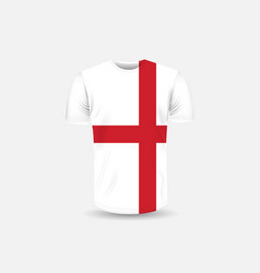 mens t-shirt icon and england flag vector image