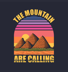 mountain retro vector image