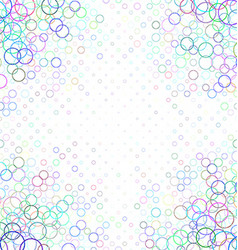 Multicolor abstract circle pattern background vector