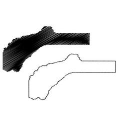 Nevada county california map vector