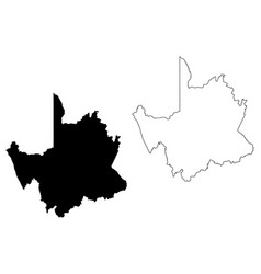 Northern cape province map vector