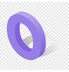 o letter in isometric 3d style with shadow vector image