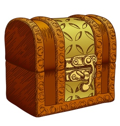 Old chest vector