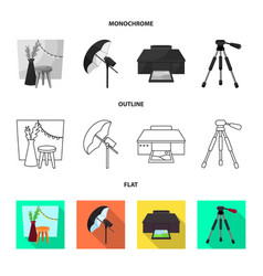 photoshoot and work sign vector image