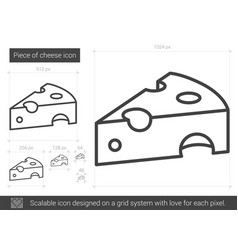 piece of cheese line icon vector image