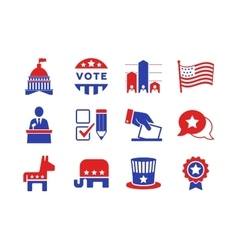 Political icons set vector image