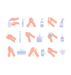 ppe icons personal protection equipment safety vector image