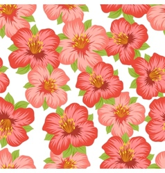 Seamless floral pattern with pretty stylized vector image