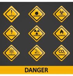 Set of danger signs vector