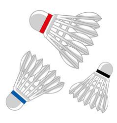 Shuttlecock for badminton vector
