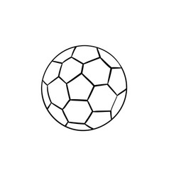 Soccer ball hand drawn outline doodle icon vector