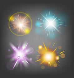 star fire bomb sparks light vector image