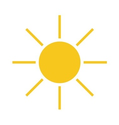 Sun icon Light yellow vector image