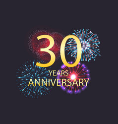 thirtieth anniversary celebration template vector image