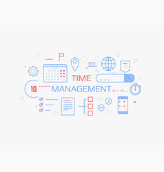 time management banner vector image