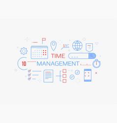 Time management banner vector