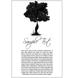 tree text template vector image
