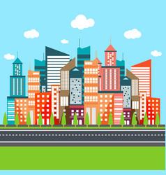 Urban city flat vector