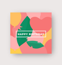 vibrant colors birthday pattern abstract vector image