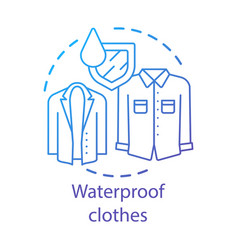 Waterproclothes textiles concept icon moisture vector