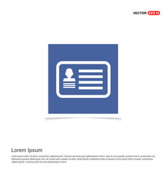 webcard id icon - blue photo frame vector image