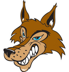 Wolf head logo mascot vector