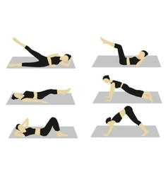 Woman doing workout set vector image