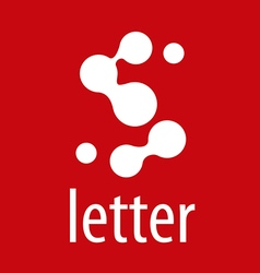 Abstract logo letter S from roundels vector image