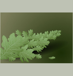 background with branch vector image vector image