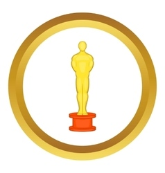 Cinema gold award icon vector image