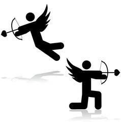 Cupid icon vector