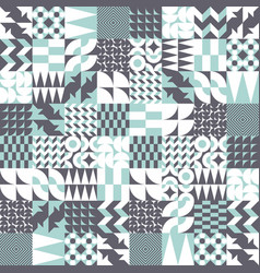 geometric tiles linear seamless pattern vector image