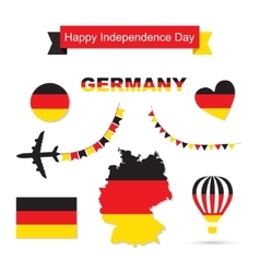 Germany flag decoration elements banners labels vector