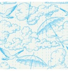 rain seamless pattern vector image vector image