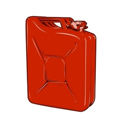 Red jerrycan vector image vector image