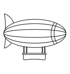 blimp aircraft flying icon outline style vector image vector image