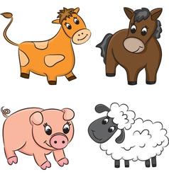 Cartoon domesticated animal vector image